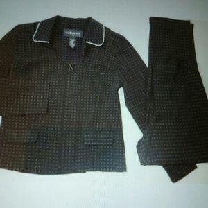 Sag Harbor Black Pants Suit